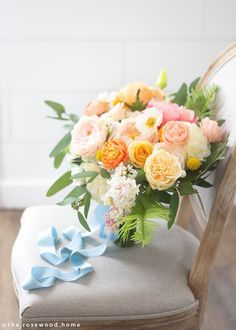 Orange Tall x Wide 3 Blooms, Wide Silk Flocked Leaves and Stem Simple Wedding Bouquets, Bright Wedding Flowers, Peony Bouquet Wedding, Beautiful Bouquet Of Flowers, Lilac Flowers, Wildflower Bridal Bouquets, Peach Wedding Colors, Orange Flowers, Peach Bouquet
