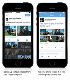 Twitter today announced two new mobile features for its Android and iOS apps: photo tagging and multiple photos in a tweet.