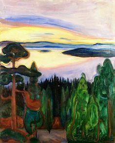 Munch, Veduta da Nordstrand, 1901