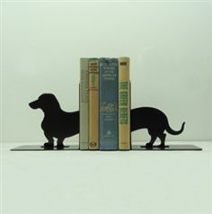 Dachshund Wiener Dog Bookends  Knob Creek Metal Arts