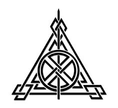 Symbol of the Deathly Hallows, Celtic-style.