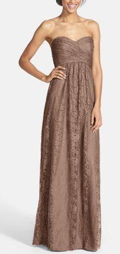 Gorgeous sweetheart style dress in Mocha