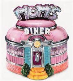 Mom's Diner Cookie Jar