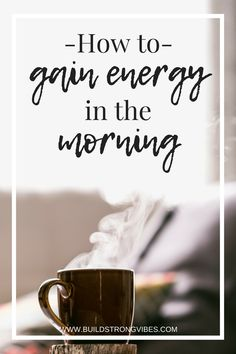 Feeling tired or groggy in the morning? Or are you struggling with your energy levels in general? It could be how you're spending your mornings! Read to find out how I actually gain energy in the morning. How To Gain Energy, Positive Thinking Tips, Self Development, Personal Development, Positive Mindset, Positive Living, Feel Tired, Energy Level, Best Self
