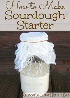 to Make Sourdough Starter Learn how to make sourdough starter for delicious and healthy homemade bread!Learn how to make sourdough starter for delicious and healthy homemade bread! Egg Recipes, Bread Recipes, Sourdough Recipes, Starter Recipes, Amish Recipes, Muffin Recipes, Kitchen Recipes, Kitchen Hacks, Sauce Recipes