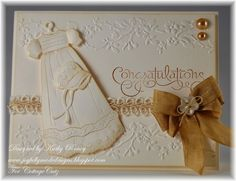 Kathy Roney: Joyfully Made Designs for CottageBLOG: Baby Congratulations - 2/12/14.  (Dies: Christening Gown; Clothes Hanger Mini).   (Pin#1: Dies: Cottage Cutz. Pin+: Religious Occasions;  Baby...)