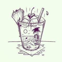 Mai Tais at Billy's 🍹 Happy Friday! #jamiebrowneart #maitai #billys #beach…