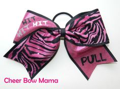 Hit, Hit, Hit, PULL... Cheer Bow by Cheer Bow Mama