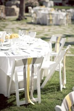 I think that grey and yellow are one of the classical schemes for wedding decor – colorful and elegant. Such a color scheme is ideal for a spring wedding when you are tired of winter and want colors so much, or for a bright summer wedding . Wedding Chairs, Wedding Table, Our Wedding, Dream Wedding, Yellow Grey Weddings, Gray Weddings, Summer Weddings, Wedding Yellow, Destination Weddings