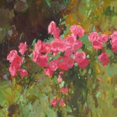 Colin Page Pink Roses 24x24sm
