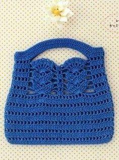 Delicadezas en crochet Gabriela: Bolsa de mano