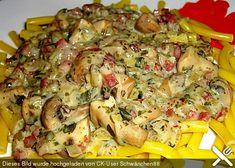 Spaghetti mit Pilzsauce
