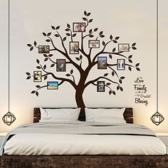 Timber Artbox Beautiful Family Tree Wall Decal with Quote  The Only Dcor You Need for Living Room  Bedroom >>> Find out more about the great product at the image link.Note:It is affiliate link to Amazon.