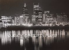 Photography Portland Oregon  at night after a by QuirkyConcepts, $18.00