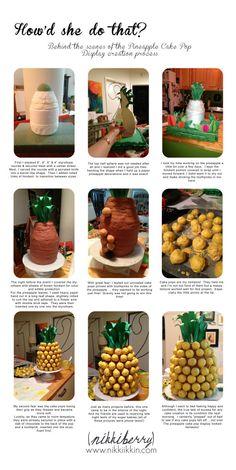Tutorial:  how to make a cake pop pineapple centerpiece