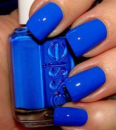 Dare to make a statement with #RBblue nails.