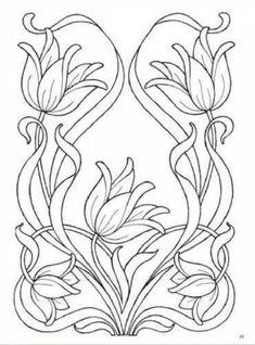 Рисунки для батика, росписи, витражей