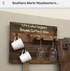 Life is What Happens Between Coffee & Wine (Without Cups)