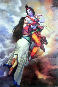 Radha Krishna - The Depths of Love (Reprint on Paper - Unframed)