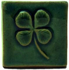 Four Leafed Clover 2 Ceramic Handmade Tile Four Leafed Clover Handmade Ceramic Art Tile, from Emu Tile; a popular symbol of Ireland. Tile Art, Mosaic Tiles, Glass Tiles, Mosaics, Handmade Tiles, Handmade Ceramic, Mosaic Madness, Vintage Tile, Four Leaves