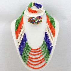 BST African Nigerian Crystal Beads Jewelry Set Multicolor Party Beads Necklace Set BST Wedding & Party Jewelry Set http://www.amazon.com/dp/B01A82V5XU/ref=cm_sw_r_pi_dp_2BuKwb1MWEJKZ