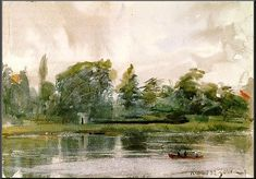Study of Landscape in Richmond, 1882, Anders Zorn Medium: watercolor, paper