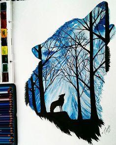 Wolves Brilliant artwork by @scandy_girl  Follow @justartsogram for more great art