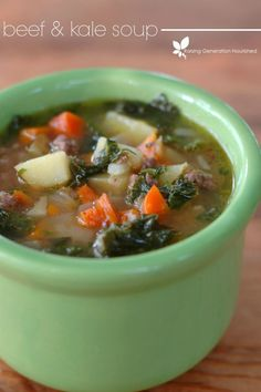 Paleo Beef & Kale Soup by Raising Generation Nourished.