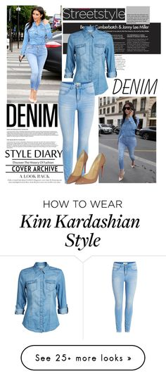 """DENIM"" by bruna-cortes on Polyvore featuring Kerr®, ONLY, Christian Louboutin and denim"