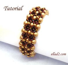 Tutorial Fenestra Bracelet - Instant Download, Beading Pattern PDF
