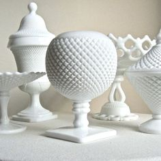 Milk Glass Collection....thanks Mom :)