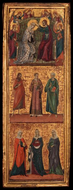 Master of Monte Oliveto - Saints and Scenes from the Life of the Virgin. 1320