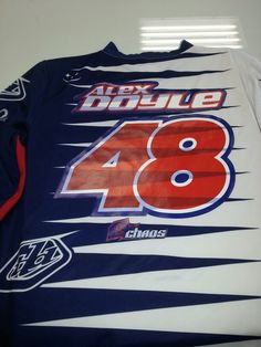 Heatpressed troy Lee designs jersey #chaosgraphics www.chaosmxgraphics.com 206-466-1631