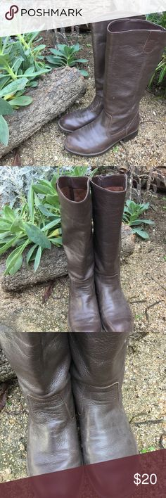 """Kenneth Cole leather riding boots size 8 Wore these boots only a few times. Kenneth Cole 100% leather brown boots size 8. 15"""" high. Riding style design. Cute with that summer dress Kenneth Cole Shoes Heeled Boots"""