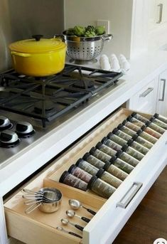 Creating the best smart kitchen storage is easier. Storage for your kitchen helps you to make your kitchen doesn't look messy so that you need it. However, when you create it, you have to know smart kitchen storage solution ideas… Continue Reading → Smart Kitchen, Cheap Kitchen, New Kitchen, Kitchen Decor, Kitchen Ideas, Long Kitchen, Rustic Kitchen, Kitchen Layout, Awesome Kitchen