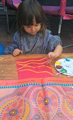 Australian Aboriginal Dot Painting For Kids And Art Resources Aboriginal Art For Kids, Aboriginal Education, Aboriginal Dot Painting, Indigenous Education, Aboriginal Culture, Art Education, Indigenous Australian Art, Indigenous Art, Australian Art For Kids