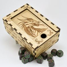 Dungeons and Dragons Dice Box by EtchedItDesigns on Etsy