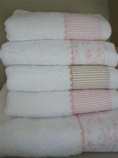 toallas con cenefa textil