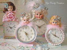 I'm loving these dolls and clocks