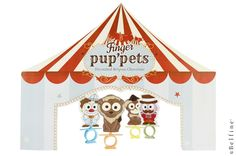 Make a circustent & circus Finger Pup'pets with the Belfine Finger Pup'pet rings. Check out www.fingerpuppets.be