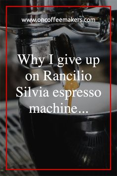 I give up on rancilio silvia espresso machine and move on to nespresso -no regrets! Rancilio Silvia is too pricy for its capabilities. I think that this espresso machine is manual in every aspect.It will take time for you to make it perfect, you will feel that you need a pricy grinder just to make this machine easy to use.This machine has a long warm up time. It will give you a nice shot of espresso in a very hard way. Single Cup Coffee Maker, Automatic Espresso Machine, Different Coffees, Italian Espresso, Coffee Service, Coffee Machines, I Give Up, Giving Up, Regrets