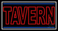 Double Stroke Red Tavern Neon Sign