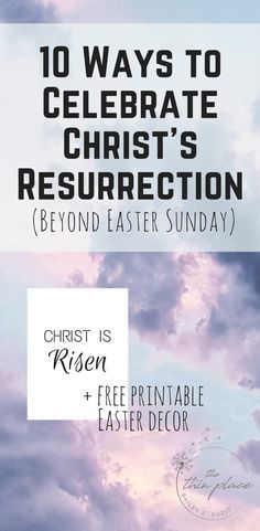 If we are to be people of the Risen King, people who live with the hope of their own resurrection, we need to celebrate this victory. Instead of simply celebrating for a day, let's celebrate for the entire Easter season, all 50 days, what our God has done.