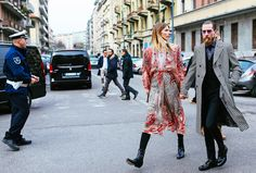 Veronika Heilbrunner in an Etro dress and Justin O'Shea