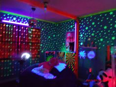 "A mother's home sensory room for her daughter.  I thought it was over the top...two of my kids who would benefit most think it ""is totally awesome"". So up it goes :)"