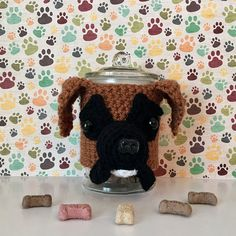 Boxer Dog Gifts - Boxer Mom - Boxer Dog - Boxer Gift - Gift for Boxer Lover- Boxer Lover - Dog Lover Gift - Dog Treat Jar - Hooked by Angel
