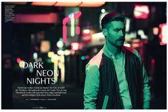 Dark Neon Nights   Chris Brown for Men's Health Best Fashion March 2014
