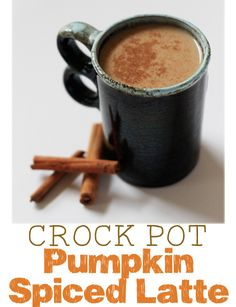 Make your own pumpkin spice latte with your slow cooker... perfect for entertaining!