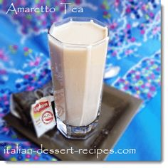 Amaretto Tea.  Three little ingredients - tea, amaretto, and cream (or milk).