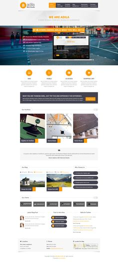Adila Multipurpose Business HTML Theme #webdesign
